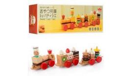 Дерев'яна іграшка кондитерський поїзд md 0970, каталка, сортер, фігурка Ed.Inter Japan