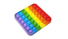 Антистрес Pop It Поп Іт Fidget rainbow різнокольоровий 001