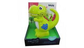 Динозавр K999-143  16см, муз, звук, світло, запис, на бат-ке, в кор-ке, 17,5-21-12см