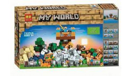 Конструктор BELA 5 в 1 «Набір для творчості Храм Джунглів» 10733 (Minecraft 21135) / 723 дет.6+