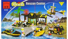 Конструктор Brick Enlighten Поліцейська серія 111 (Рятувальний центр)