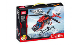 Конструктор JiSi Bricks (Decool) аналог LEGO 42092 Рятувальний вертоліт (2 в 1) 13385 6 + 344 дет