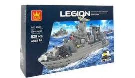 Конструктор WANGE Військовий корабель, 528 деталей 6+