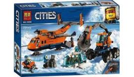 """Конструктор Bela 10996 City """"Арктичний вантажний літак"""" Арктична експедиція, 731 деталей. Аналог Lego Citi 6+"""
