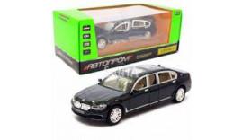Машинка автопром «BMW 760»  метал, 20 см, чорний, світло, звук, двері відкриваються (7695)
