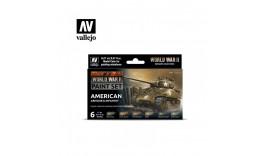 Набір акрилових фарб 6 шт.17 мл.American armour & infantry world warII Vallejo 70.203