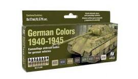 """Набір фарб """"Кольори німецького камуфляжу"""", 1940-1945 р """", 8 шт VLJ71206 ValleJo"""