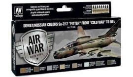 """Набір фарб 8 штук """"Камуфляж літака Су-7/17"""" Fitter """"часів"""" холодної війни """"в 80-х"""", виробника VALLEJO 71604"""
