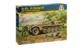 Sd.Kfz. 10 DEMAG D7 з німецькими десантниками 6561 1/35