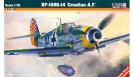 """Літак MisterCraft Истребитель BF-109 G-14 """"Croatian A.F"""" C151 1/72"""