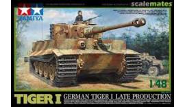 Танк TIGER I german tiger I late production TAMIYA 1/48 32575
