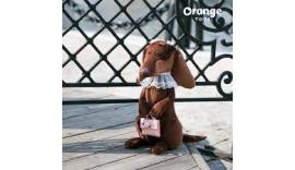 Помаранчеві Іграшки 7640/20. М'яка Іграшка Емма 20см, Собака Такса.