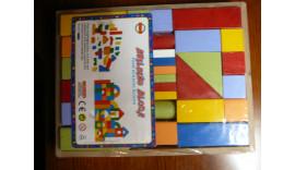 Кубіки букові кольорові 36 ел.18м+